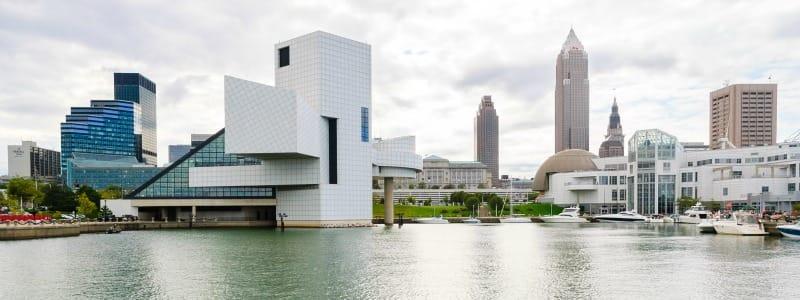 Port de Cleveland, rive nord du lac Erie
