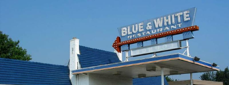 Restaurant Blue & White